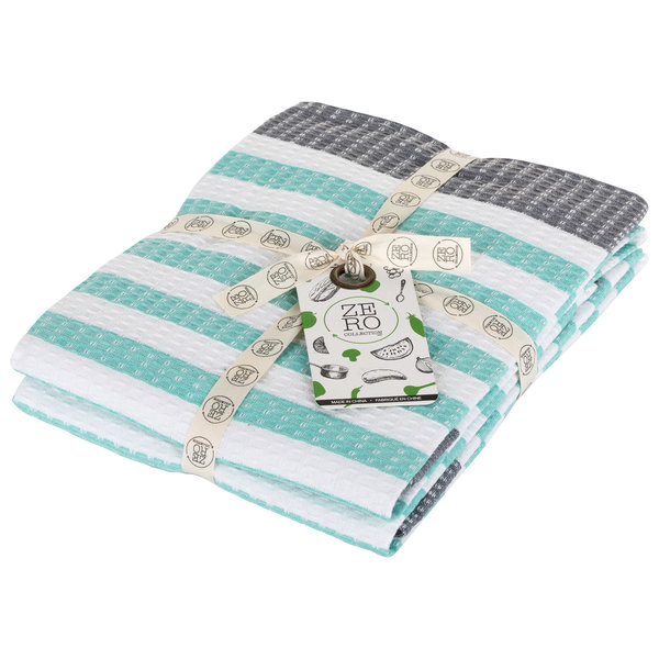 Dish towel 100% cotton, 51x71cm, set of 2, aqua