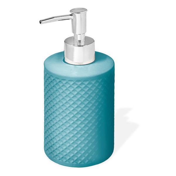 Pompe à savon en céramique texture Bleu