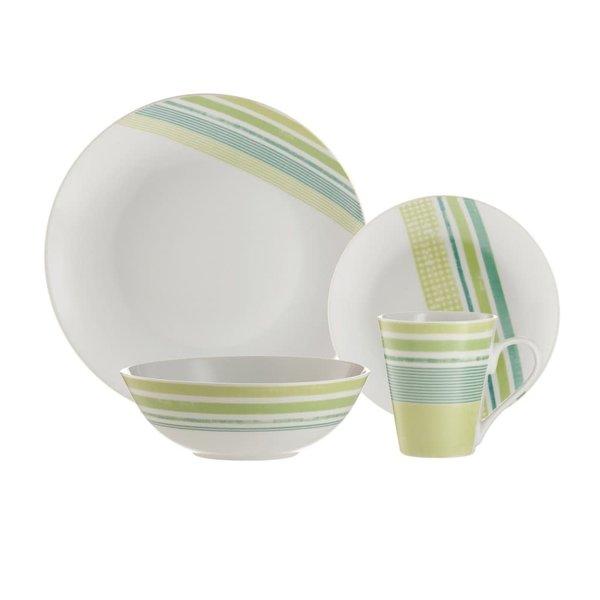 Brilliant Tartan 16 Piece Dinnerware Set, Service for 4