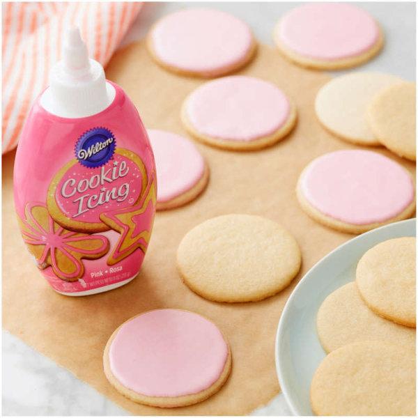 Glaçage pour décorer les biscuits Rose 9 oz de Wilton