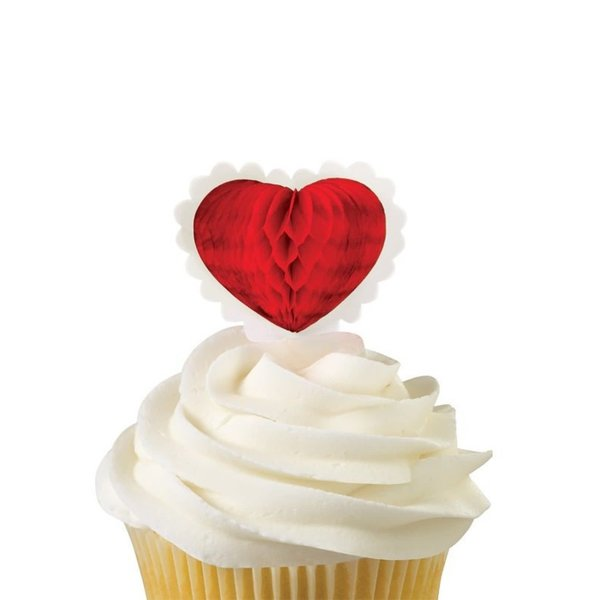 Wilton Cupcake Topper, Heart, Set of 12