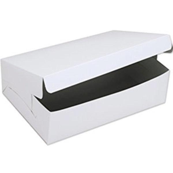 "WHITE CAKE BOX - 8 X 5 1/2 X 3 1/2"""