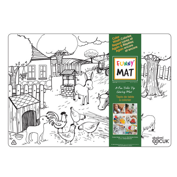 Funny Mat Farm animals Placemat