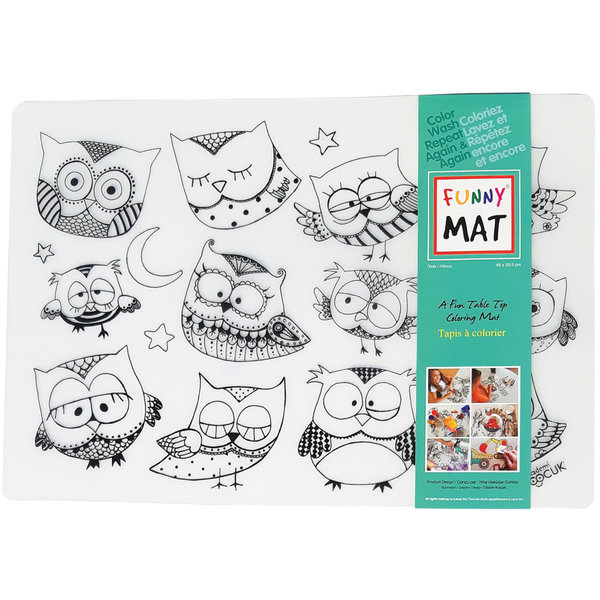 Funny Mat Owls Placemat