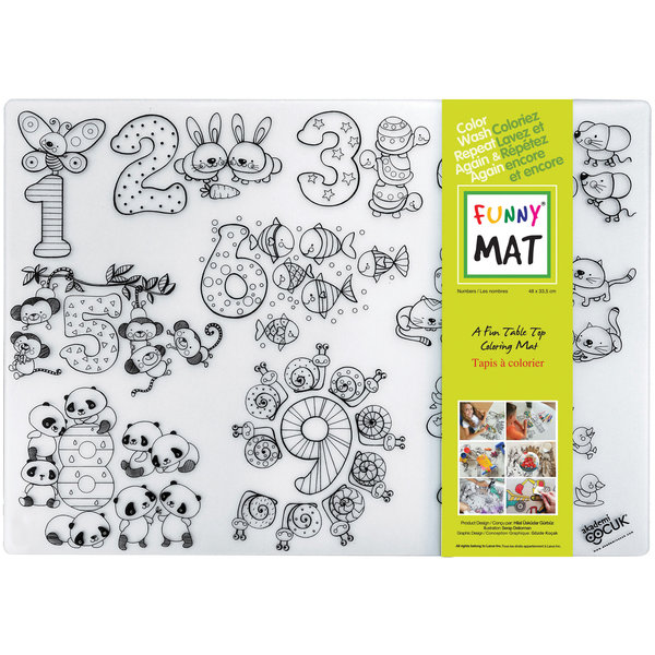 Funny Mat Numbers-M Placemat