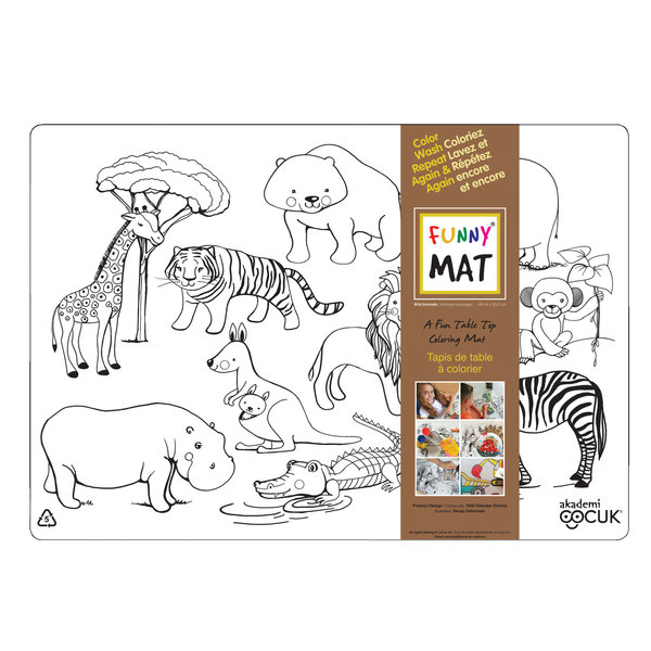 Funny Mat Wild Animals Placemat