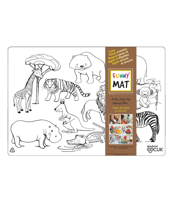 Funny mat Funny Mat Wild Animals Placemat