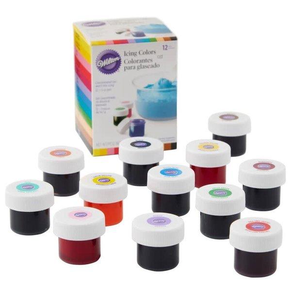 Colorant à glaçage, ensemble de 12 couleurs de Wilton