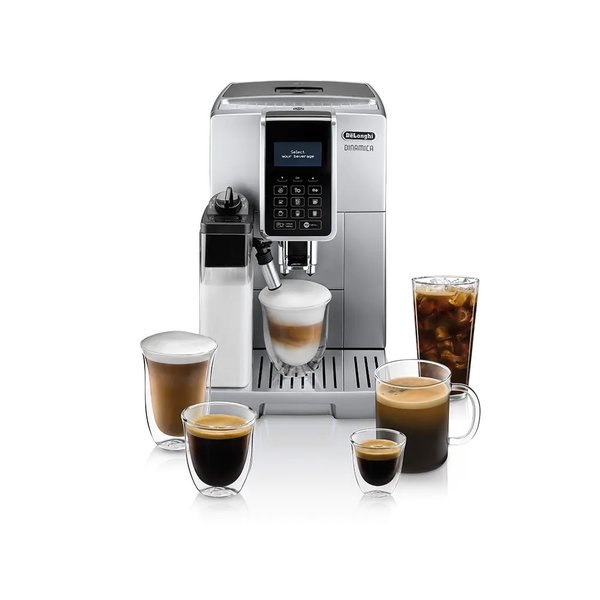 Delonghi Dinamica with LatteCrema Automatic Coffee & Espresso Machine with Iced Coffee + Automatic Milk Frother