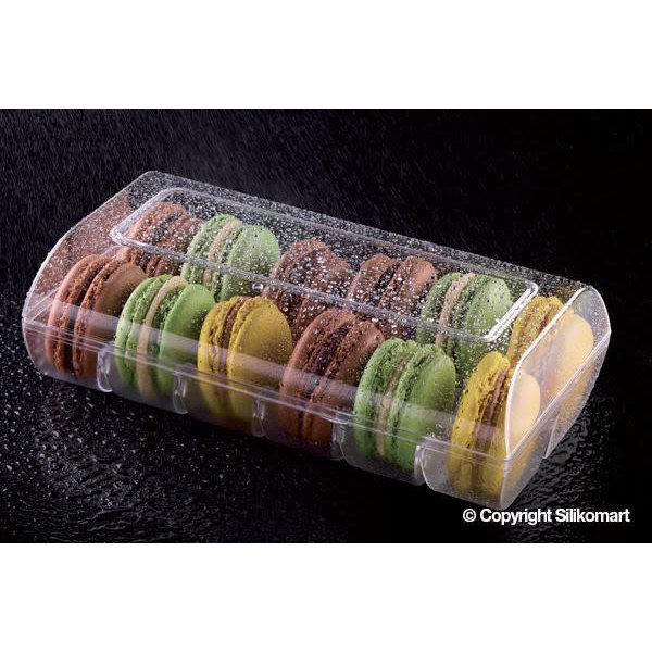 Boite pour 12 Macarons, transparent  de Silikomart