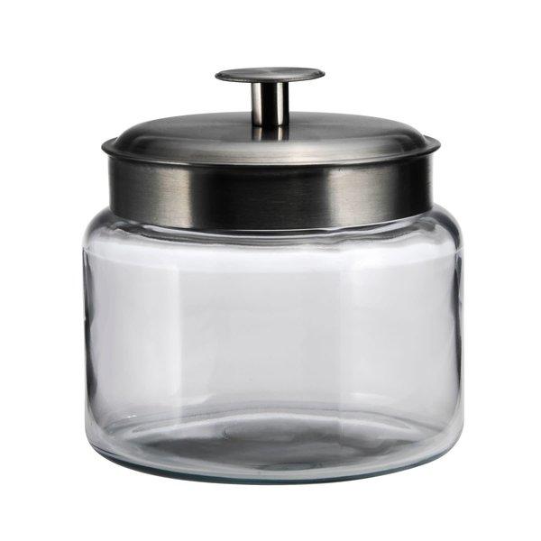 Anchor Hocking  Montana Jar with Brushed Metal Lid, 48 oz
