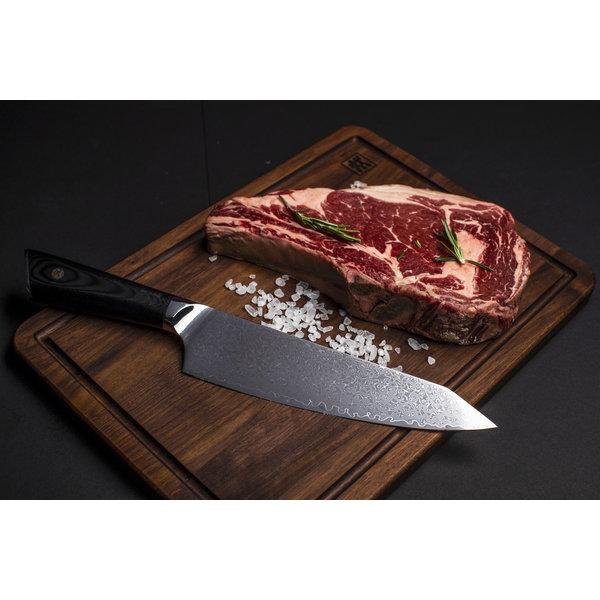 Couteau de chef 67 couches 20cm en acier damassé Senshi