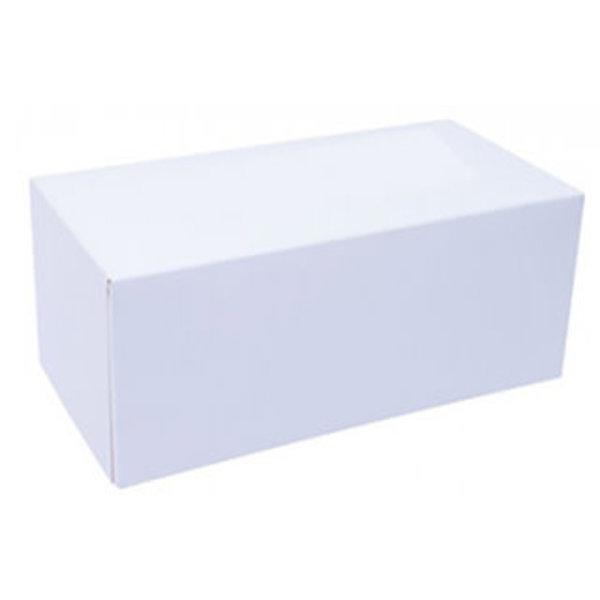 WHITE LOG BOX - 5 X 5 X 11''