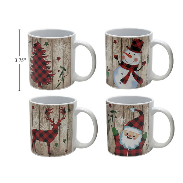 Tasse 11oz en ceramique Noel