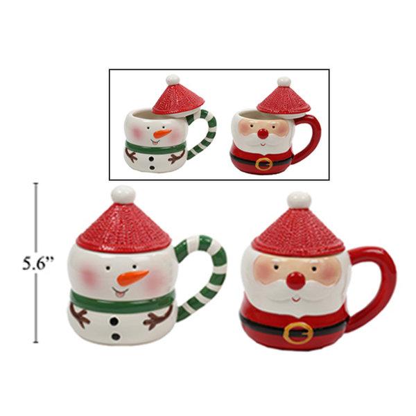 Tasse de Noël avec couvercle 11oz en ceramique