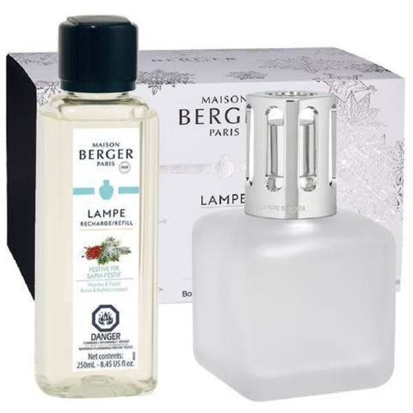 Lampe Berger de Paris Festive Fir Frosted Lamp Gift Set - 250ml