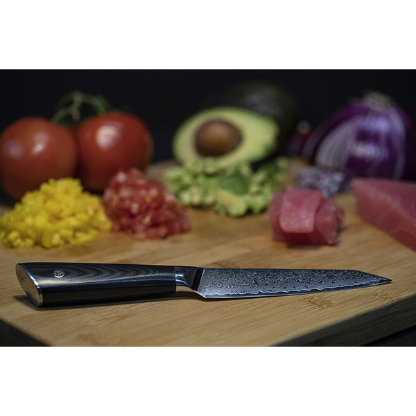 Senshi 5''  Damascus Steel Utility Knife
