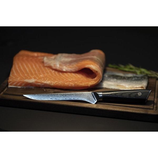 Désosseur 67 couches 15cm en acier damassé Senshi