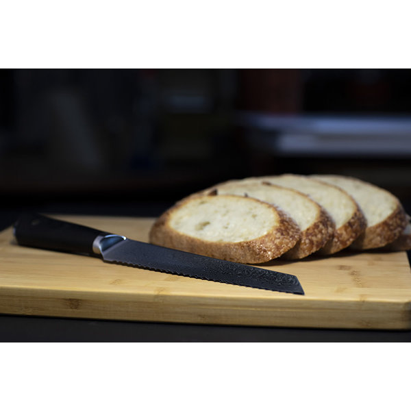 Couteau à pain 67 couches 20cm en acier damassé Senshi