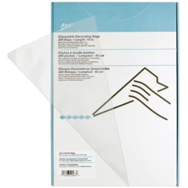 """ATECO CLEAR DISPOSABLE BAGS 18"""""""