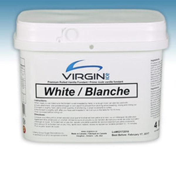 Virgin Ice ROLLED FONDANT - WHITE 4lbs