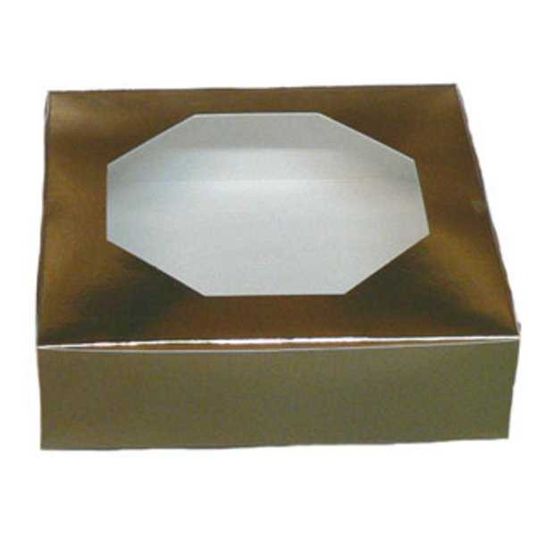 "GOLD BOX WITH CELLO WINDOW - 7 X 7 X 2"""