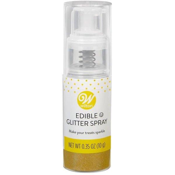 Wilton Edible Glitter Gold Spray, 0.35 oz.
