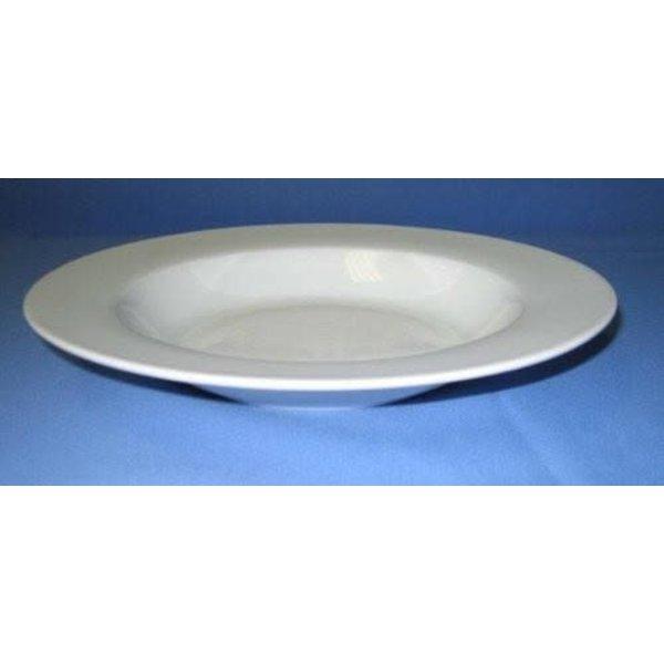 """8.5"""" RIM SOUP/PASTA PLATE-PORCELAIN-Royal White"""