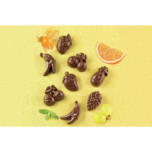 "Moule à chocolat Choco Fruits ""Easy Choc"" en silicone de Silikomart"