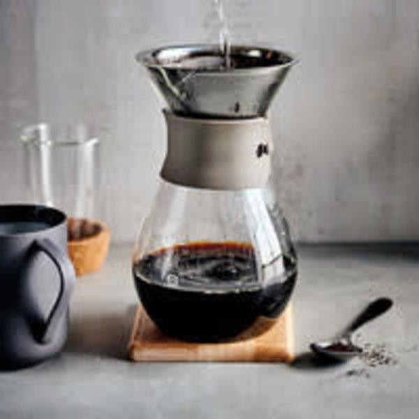Carafe à café en verre et filtre réutilisable de Ricardo