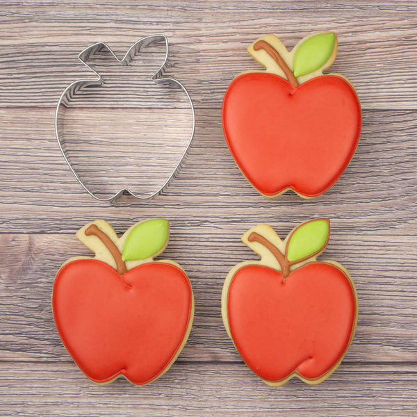 "Ann Clark Apple cookie cutter 3 1/2"" x 3"""
