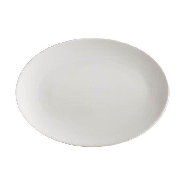 Assiette service ovale 35x25cm , Blanc de Maxwell&Williams