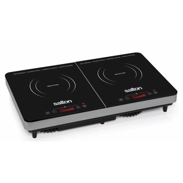 Salton portable double induction cooktop