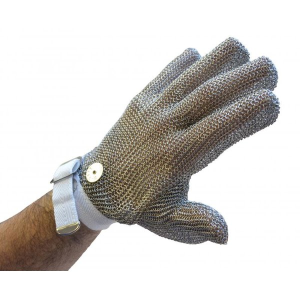 EXTRA SMALL MESH GLOVE WITH GRAY WRIST STRAP