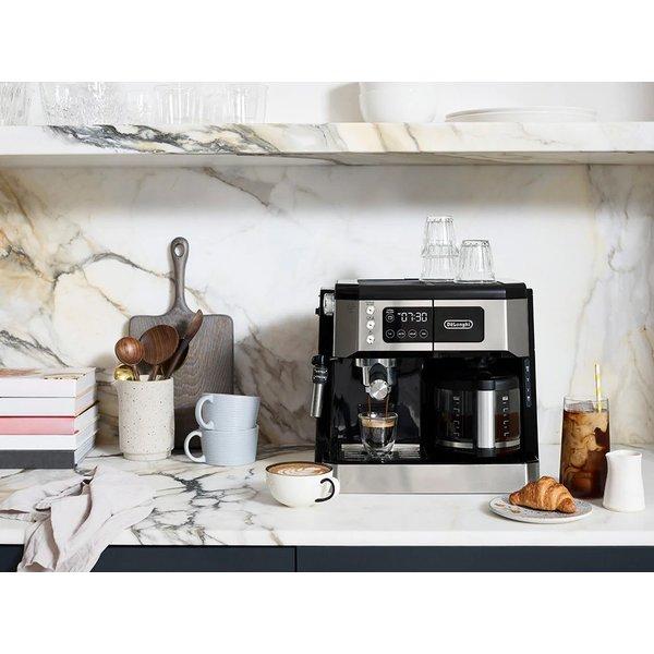 Delonghi All-in-One Coffee & Espresso Maker, Cappuccino, Latte Machine + Advanced Adjustable Milk Frother