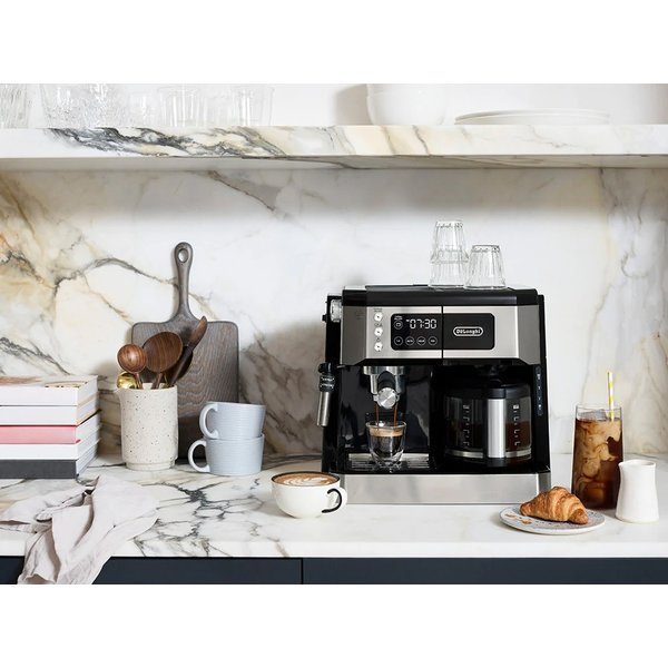 Machine à café et espresso All-in-One, cappuccino, machine à latte + mousseur à lait réglable avancé de  Delonghi