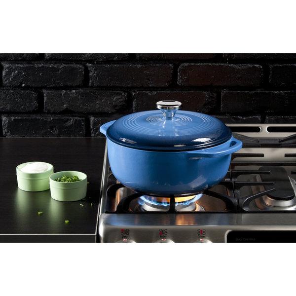 Lodge 6 Quart Blue Enameled Cast Iron Dutch Oven