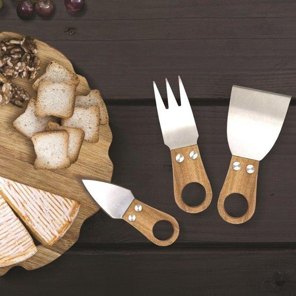 Natural Living Alpine 3pc Acacia Cheese Knife Set