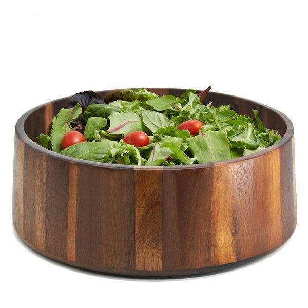 Natural Living Dark Acacia Salad Bowl
