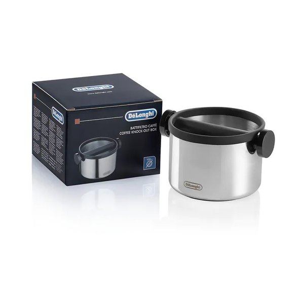 Delonghi Knock Box, Stainless Steel, Large