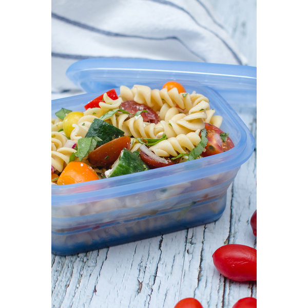 Minimal Silicone Food Storage Container - Blue -460 ml