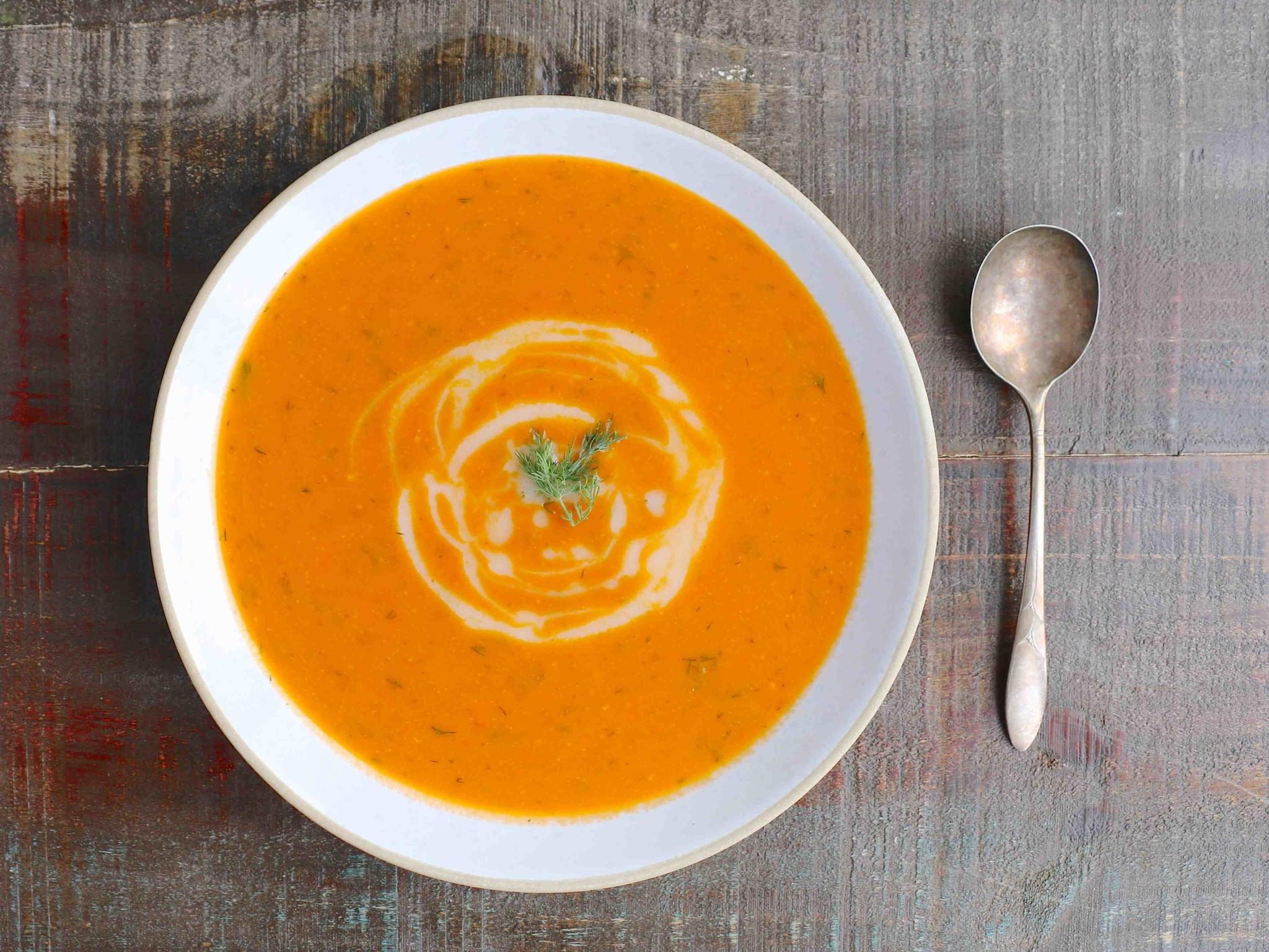 Recette de la semaine: Soupe aux Tomates Rôties & à l'Aneth