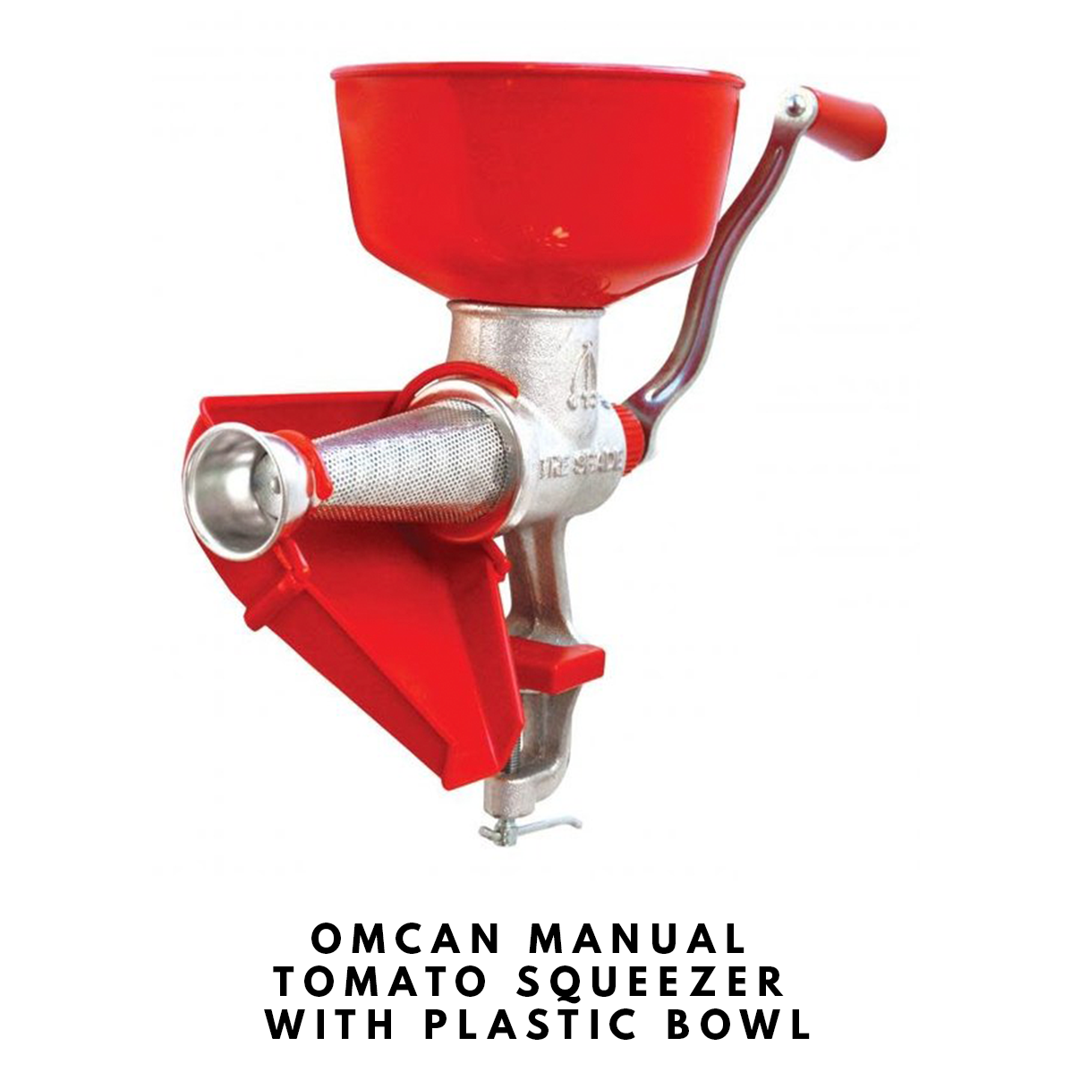 OMCAN+MANUAL+TOMATO+SQUEEZER+WITH+PLASTIC+BOWL