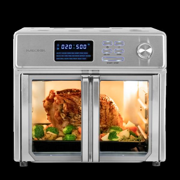"""Four grille-pain et friteuse à air chaud en acier inoxydable 25L """"THE MAXX ™""""  de Kalorik"""