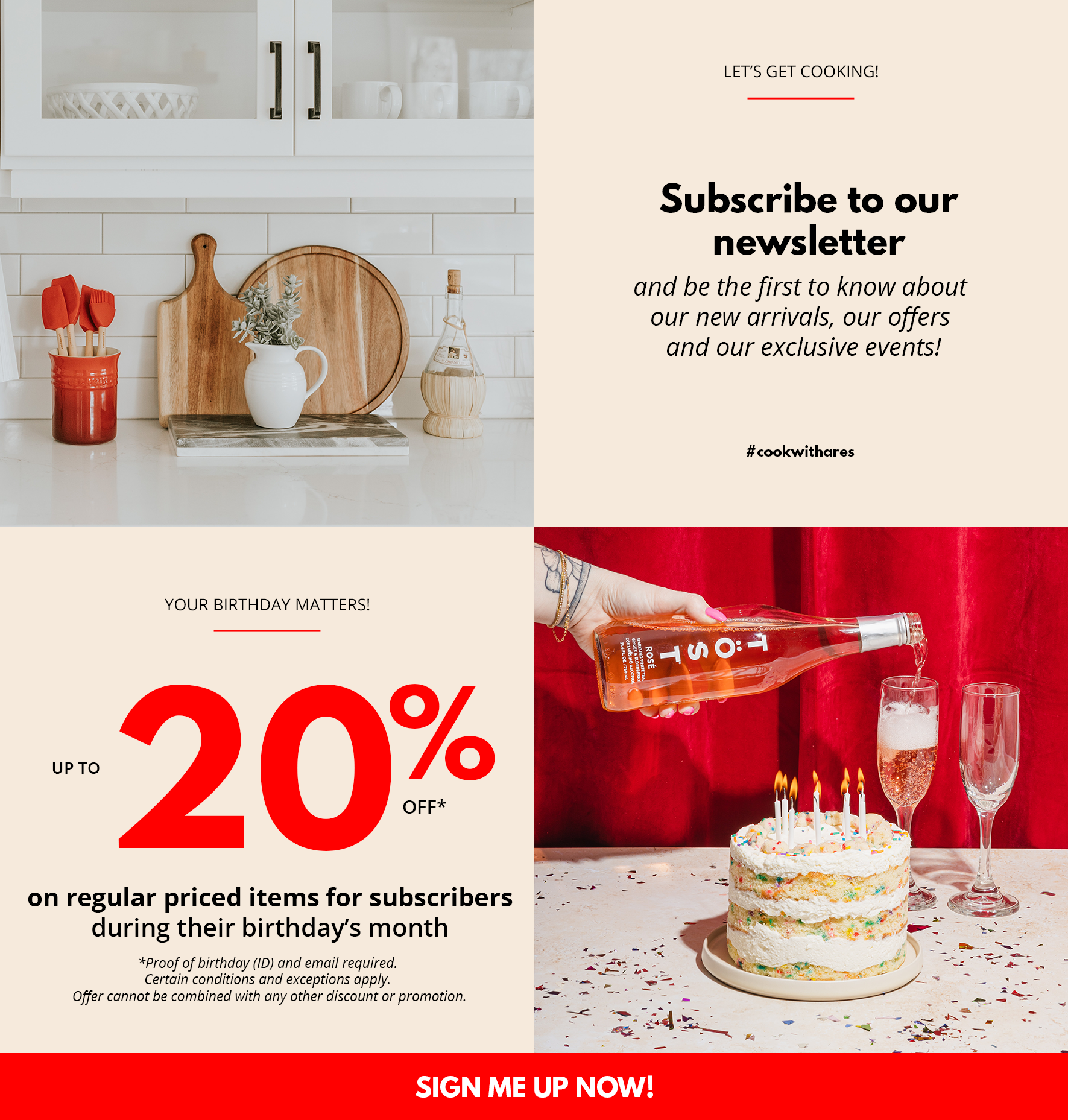Subscribe to our newsletter! ARES CUISINE