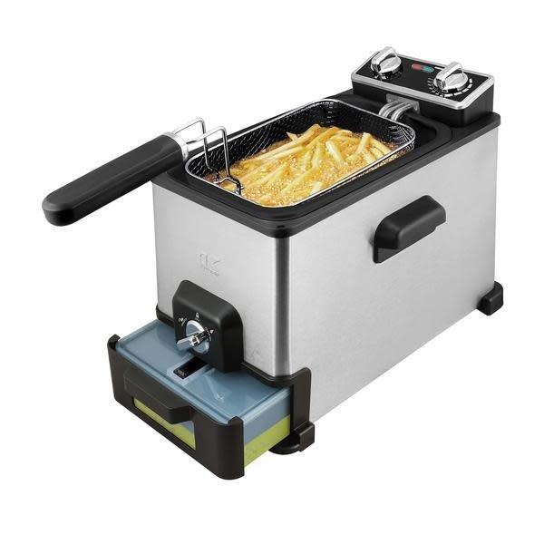 Kalorik Stainless Steel 4.2 Quart Deep Fryer with Oil Filtration XL