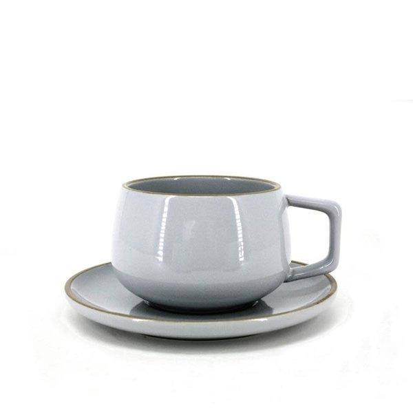 Tasse et soucoupe gris de BIA
