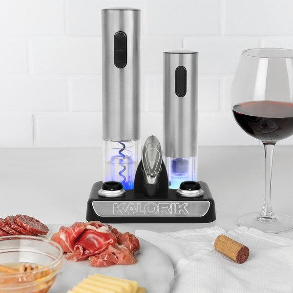 Kalorik Wine Lovers Set with Opener and Preserver, Stainless Steel