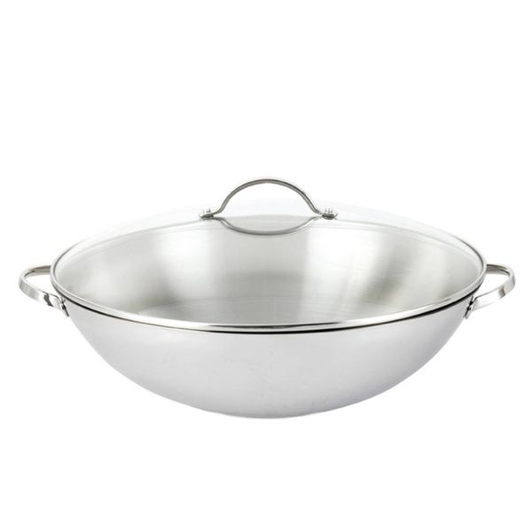 Josef Strauss Tango Wok with Glass Lid 38 cm