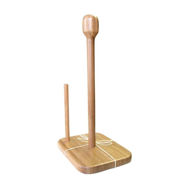 Green Bamboo Paper Towel Stand